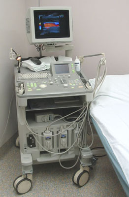 Example of Equipment used by an Ultrasound Technician
